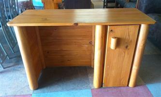 Light wooden cabinet desk