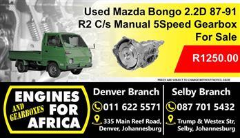 Used Mazda Bongo 2.2D 87-91 C/S Manual 5speed Gearbox