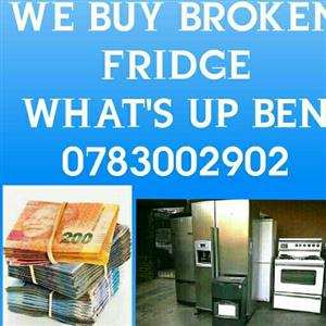 WE BUY BROKEN FRIDGE
