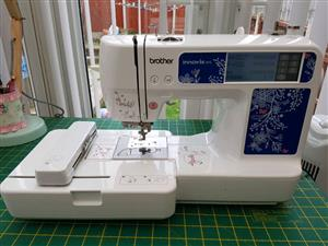 brother innovis 97e embroidery machine, machine is brand new with all the extras that come with the machine its a bargain inbox for more details