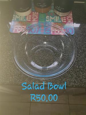 Normal glass salad bowl for sale