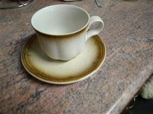 Vintage Provincial JC000 Japan Coffee Cups & Saucers