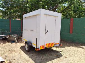 Mobile food trailer for sale.