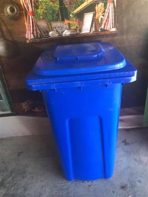 Large blue garbage bin for sale