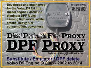 Diesel Particulate Filter DPF Proxy  Emulator / Substitute / DPF delete Volvo D5 Engine  XC90 - 2002 to 2014