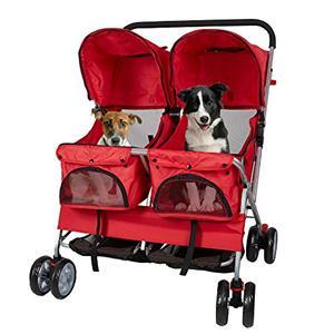 4-Wheel DOUBLE TWIN Pet Stroller