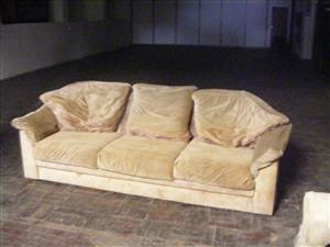 3 Seater velveteen couch