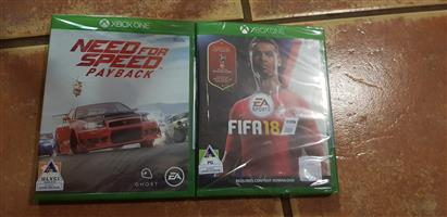 Need for Speed Payback and Fifa 18. Xbox One Games