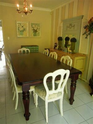 Mahogany 8/10 Seater Dining Table