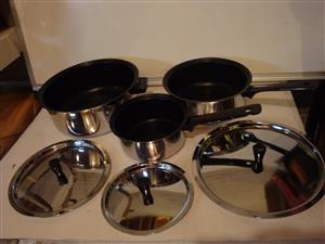 Set Of 3 Cooking Pot and  Sauce Pan