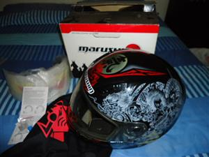 Marushin Kouseido 999RS Size L Kevlar Helmet thats like New and Other stuff
