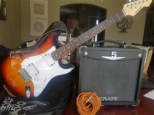 Electric Guitar and Amplifier For Sale - Musical Instruments
