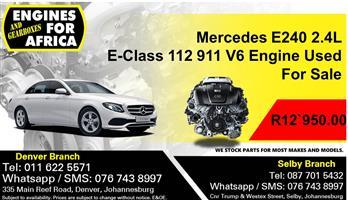 Mercedes E240 2.4L E-Class 112 911 V6 Engine Used For Sale