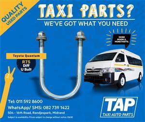 Toyota Quantum Diff U BOLT - Taxi Auto Parts quality used spares - TAP