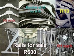 Rails and hangers for sale