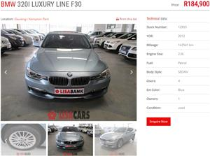 2012 BMW 3 Series 320i GT Luxury Line