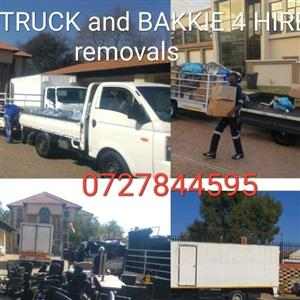 Truck and bakkie for hire removals