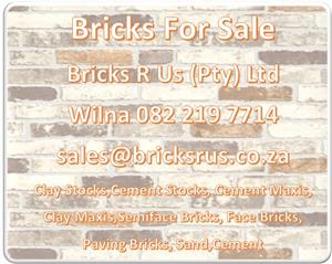 Bricks R Us (Pty) Ltd - Bricks For Sale