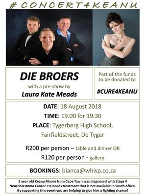 Die Broers - Fundraiser Event for Cure4Keanu