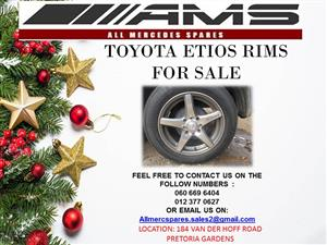 CHRISTMAS SPECIALS !!!! TOYOTA ETIOS RIMS FOR SALE
