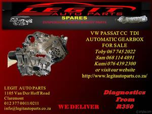 VW PASSAT CC TDI GEARBOX FOR SALE