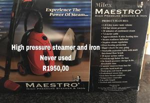 High pressure steamer and iron