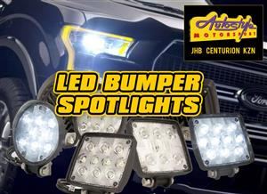 LED bumper spotlights assorted sizes  R150 pair upward
