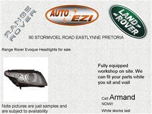 Range Rover Evoque Headlights