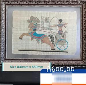 Egyptian pharaoh framed painting