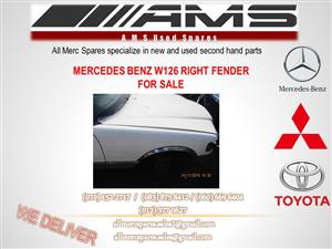 MERCEDES W126 RIGHT FENDER FOR SALE
