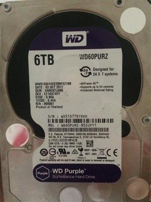 6TB WD Hard Drive - 100% Health