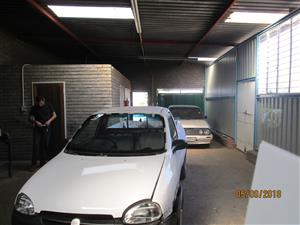 Mini factory with covered yard at only R4500/m (Klerksoord)