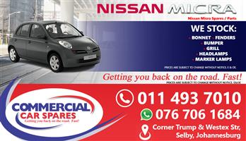 Nissan Micra 2006 parts for sale