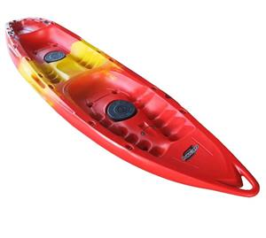 2 seater kayak with 2 seats and paddles