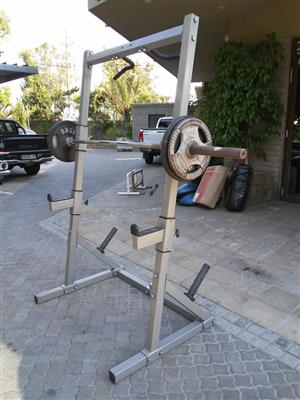 Squat Rack and/or weight plates for sale