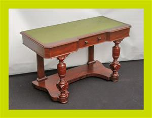 Victorian Satinwood and Leather Inlay Desk - SKU 755