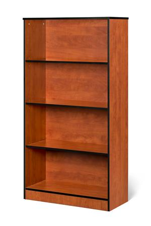 4 Tier bookcase available in Cherry, Oak and Mahogany.