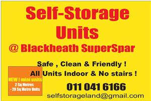 Storage units to rent and bakkie for hire
