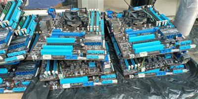 GAMING BOARD Sock 1155 board + CPU 3470 i5+4gb ram +fan/backplate