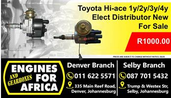 Toyota Hi-ace 1y/2y/3y/4y Elect Distributors New For Sale