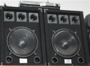 Lg amp with dvd 2 x speakers and remote S031817A #Rosettenvillepawnshop