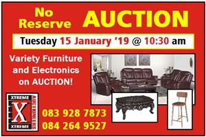 No Reserve AUCTION at Xtreme Auctioneers:  Tuesday, 15 January '19 at 10:30am.