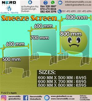 Sneeze Screen