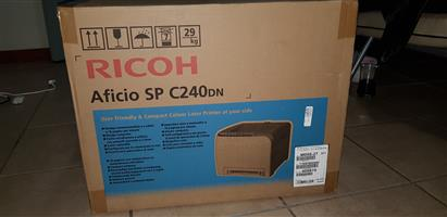 Brand new printer-Ricoh Aficio SP C240DN Colour Duplex Laser Printer