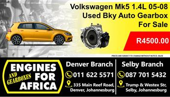 Used Vw Mk5 1.4L Bky 05-08 Auto Gearbox For Sale