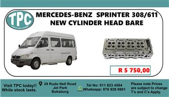 Mercedes-Benz Sprinter 308/OM611 New Cylinder Head Bare - For Sale at TPC.