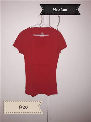 Medium red shirt for sale