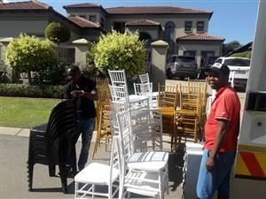Tiffany chairs, Tables, Crockery, Cutlery, Tables, Wimbledon chairs, Stretch tents, 0737356930