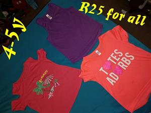 Red, purple and orange summer shirts for sale