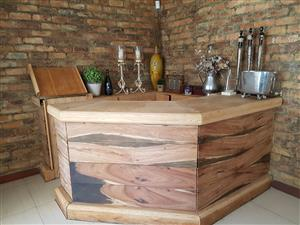 Solid Oak Bar Counter